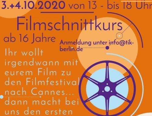 Kostenloser Filmschnittkurs ab 16 Jahre