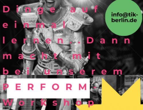 Lets Perform! – Unser neuer Performance-Workshop