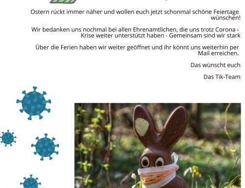 Wir wünschen euch frohe Ostern!